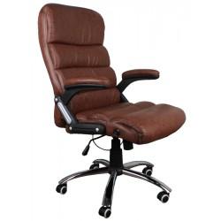 Fotel biurowy GIOSEDIO brązowy,model BSD003