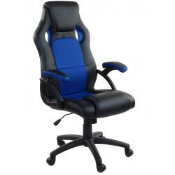 Fotel biurowy RCA czarno-niebieski