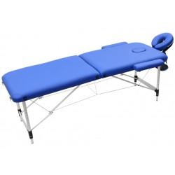 Łóżko składane do masażu, niebieskie.