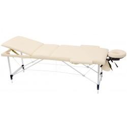 Łóżko składane do masażu MAD, beżowe.