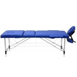 Łóżko składane do masażu MAD, niebieskie.