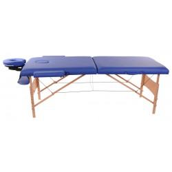 Łóżko składane do masażu MDA, niebieskie.