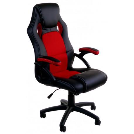 Fotel Biurowy FBF Czarno Czerwony