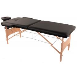 Łóżko składane do masażu MDA, czarne.